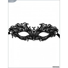 "Ажурная черная кружевная маска ""Верона"""
