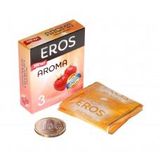 Ароматизированные презервативы EROS AROMA (клубника) (3 шт)