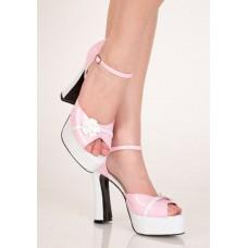 Бело-розовые туфли с розочкой 38