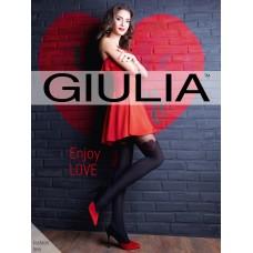 Колготки с имитацией чулок с красным сердечком Enjoy Love модель S (60 den)