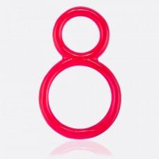 Двойное кольцо на член и мошонку Ofinity