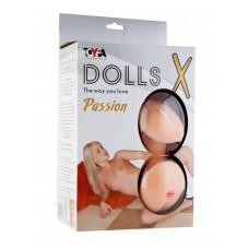 Большегрудая рыжая школьница с реалистичной вагиной Dolls X (3 отверстия)