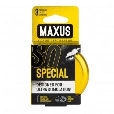 Точечно-ребристые презервативы в железном кейсе MAXUS Special (3 шт)