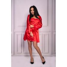 Красный атласный комплект Jacqueline LXL
