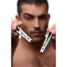 Тяжелые металлические прищепки на соски Bros Pin Stainless Steel Nipple Clamps