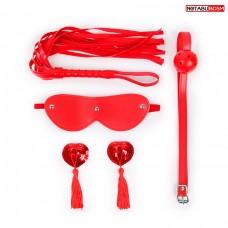 Красный BDSN набор Notabu (4 предмета)