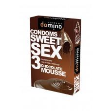 Гладкие презервативы Luxe DOMINO SWEETSEX со вкусом шоколада (3 шт)