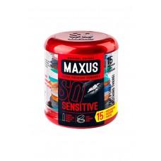Ультратонкие презервативы MAXUS в фирменном круглом кейсе (15 шт)