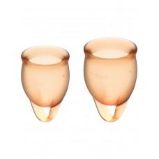 Набор менструальных чаш с хвостиком-петелькой Feel Сonfident Menstrual Cup Orange