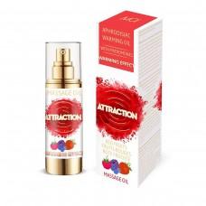 Разогревающее массажное масло MAI ATTRACTION с феромонами и с ягодным ароматом (30 мл)
