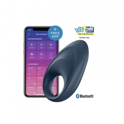 Виброкольцо Satisfyer Mighty One Ring (10 режимов, синхронизируется со смартфоном)