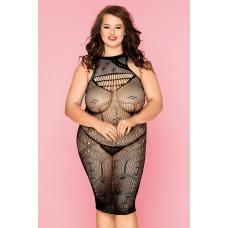Бесшовное эластичное платье с продольными полосками Spice XXL