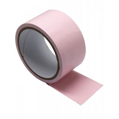 Розовый скотч для бондажа (16 м) от EROTICON