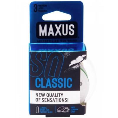 Классические презервативы в прозрачном кейсе MAXUS Classic (3 шт) от MAXUS