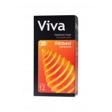 Ребристые презервативы VIVA (12 шт)