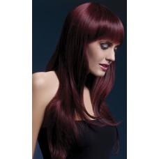 "Вишнёвый парик с чёлкой ""Sienna"""
