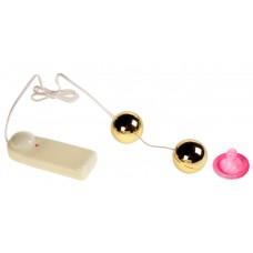 Золотые шарики с вибрацией Golden Ball
