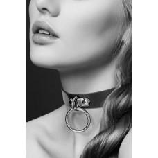 Кожаный чокер с кольцом Bijoux Pour Toi