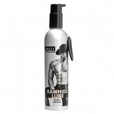 Лубрикант на водной основе Tom of Finland RAWHIDE Lube с ароматом натуральной кожи в металлической бутылке (236 мл)