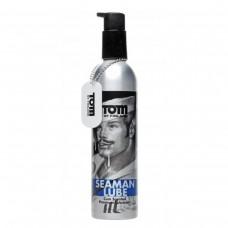 Лубрикант на водной основе Tom of Finland SEAMAN Lube с запахом спермы в металлической бутылке (236 мл)