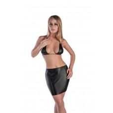 Мини-юбка кожаная
