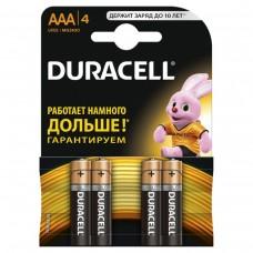 Набор из 4-х батареек DURACELL Alkaline  (тип AAA)
