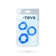 Набор эластичных эрекционных колец A-Toys (синий)