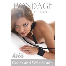 Ошейник с отстегивающимися поводком и фиксаторами для рук Collar and Wristbands