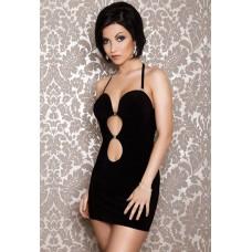 Платье черное стрейчевое со стразами ML