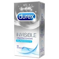 Презервативы ультратонкие DUREX INVISIBLE (12 шт)