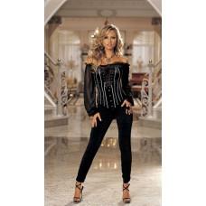 Стрейчевый черный брюки со сборками L