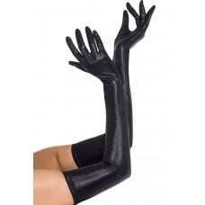 Чёрные виниловые перчатки Госпожи